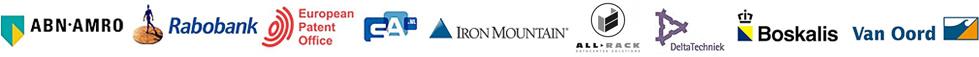 ABN-AMRO, Rabobank, European Patent Office, SA, Iron Mountain, All-Rack, DeltaTechniek, Boskalis, Van Oord